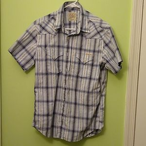 Lucky brand short sleeve Western style shirt